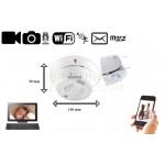 Caméra IP WiFi détecteur fumée avec détection de mouvement