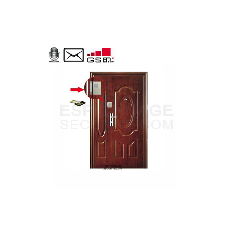 detecteur d 39 ouverture de porte gsm espionnage securite. Black Bedroom Furniture Sets. Home Design Ideas