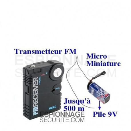 Mini micro espion talkie walkie écoute