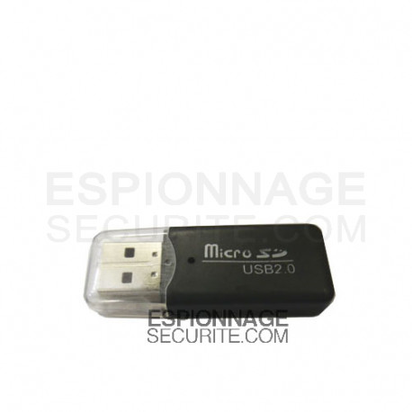 lecteur de cartes micro sd usb 2 0 espionnage securite. Black Bedroom Furniture Sets. Home Design Ideas