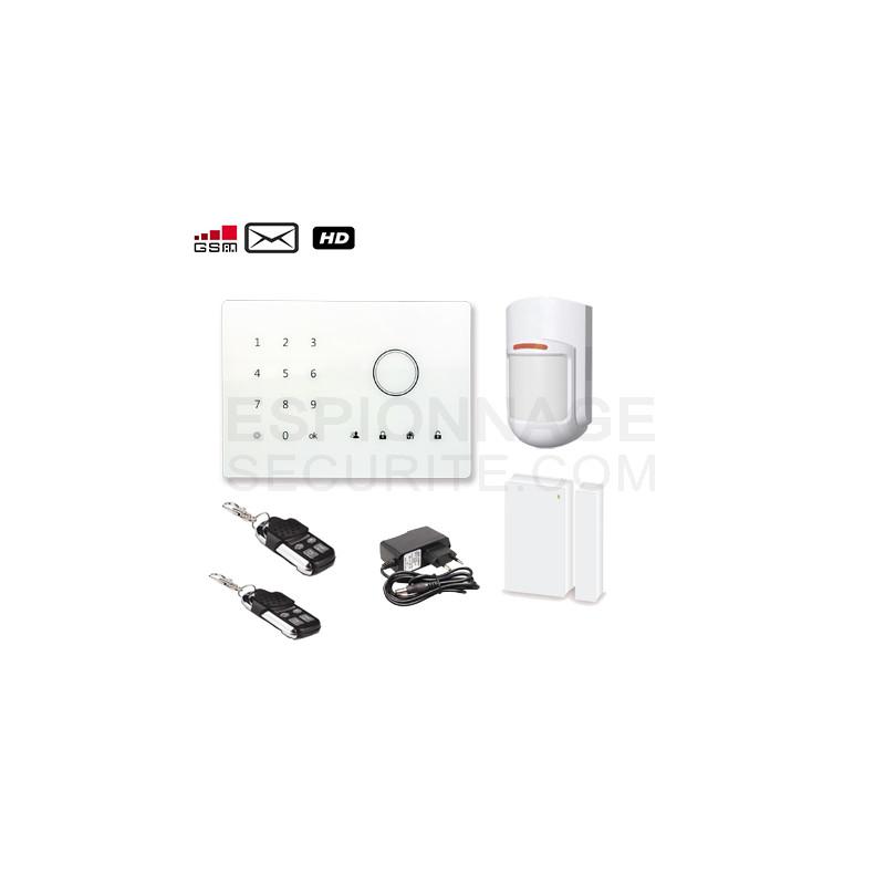 alarme gsm sans fil a2 espionnage securite. Black Bedroom Furniture Sets. Home Design Ideas