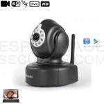 Caméra intérieure IP P2P PNP noire et blanche