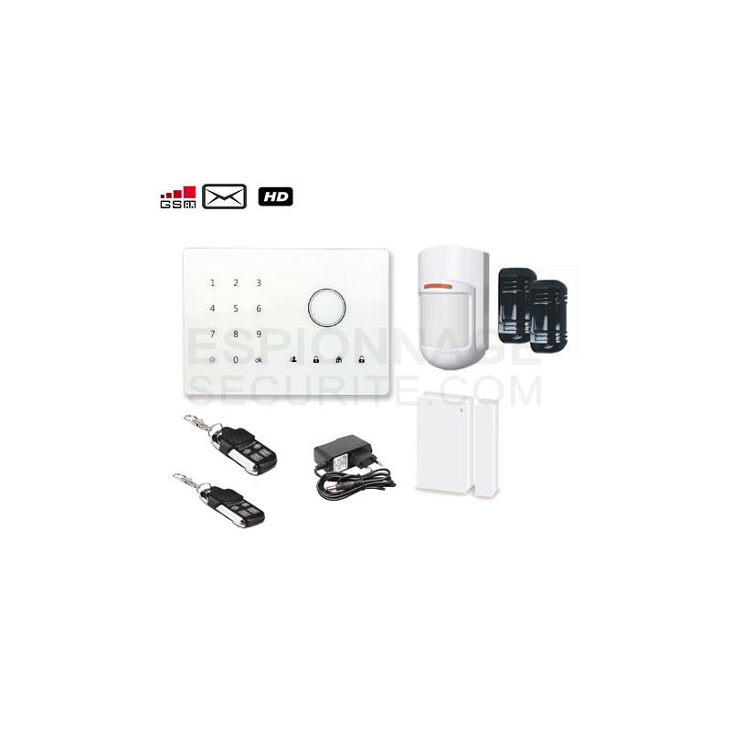alarme gsm sans fil a2 barri re infrarouge espionnage securite. Black Bedroom Furniture Sets. Home Design Ideas