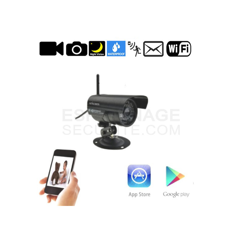 camera exterieur ip p2p espionnage securite. Black Bedroom Furniture Sets. Home Design Ideas