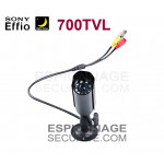 Mini caméra tube infrarouge 700TVL Waterproof