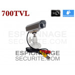 Mini caméra tube 700TVL Waterproof argenté