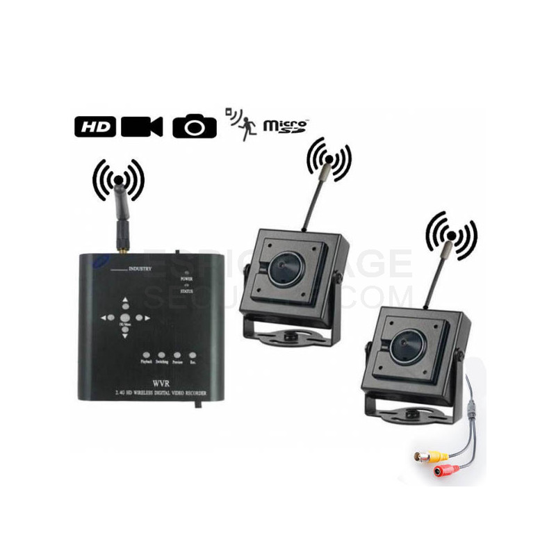 mini enregistreur dvr 2 cam ras avec d tection de mouvement espionnage securite. Black Bedroom Furniture Sets. Home Design Ideas