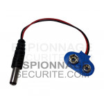 Cable alimentation pile 9V