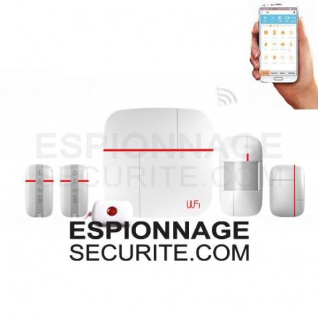 Alarme de surveillance avec wifi et gsm