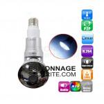 Caméra ampoule wifi ip p2p  panoramique 360° avec détection de mouvement