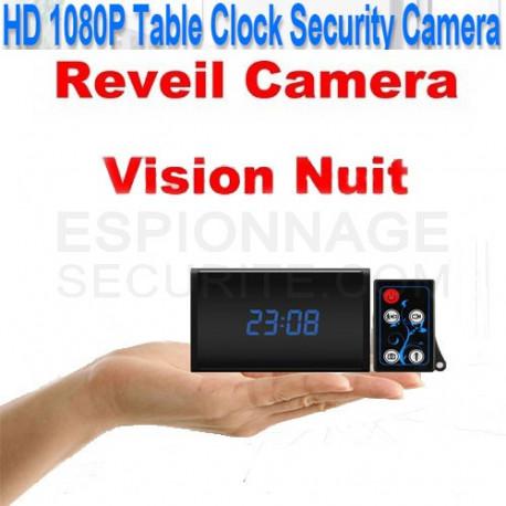 Réveil caméra espion avec télécommande