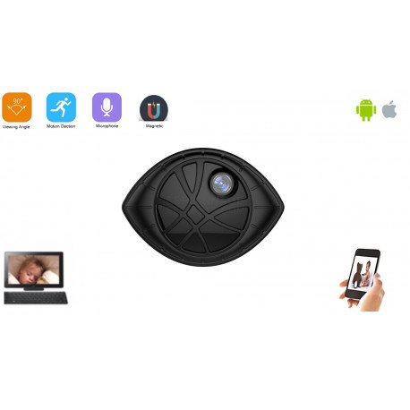Mini caméra wifi ip p2p aimanté