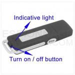 USB Flash Drive Recorder Audio Surveillance voix 4 Go - Noir 70 Heures UR08-4G